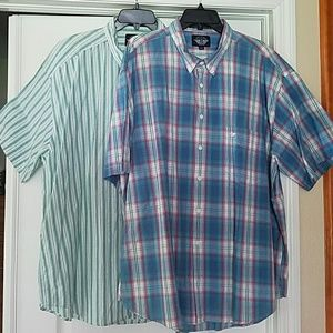 Bundle of 2 Mens Dockers Short Sleeve Dress Shirts